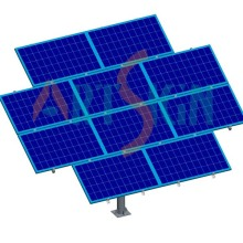 Solar PV Pole Support Kits Mount Mono Panel Installation PV Modules Ground Mounting