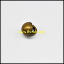 Botón de caña del metal en forma de cúpula
