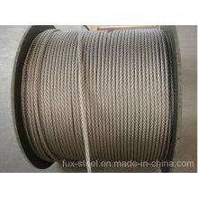 Corda de fio de aço galvanizada e Ungalvaized da costa redonda