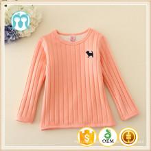 Factory-Hersteller liefern lange Ärmel Mädchen Unterhemd auf Lager, Kinder warme Unterhemden / Sweatshirts für Mädchen
