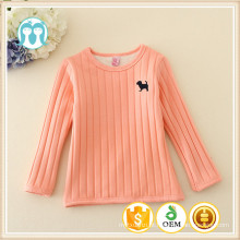 Fornecimento de manufatura de fábrica camisola de mangas compridas menina em estoque, Kids Warm Undershirts / camisolas para meninas