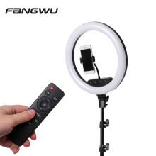 14inch 36cm Remote Touch LED Ring Light Camera Phone Photography Dimmable Ring Lamp With 2.1M  Stand