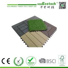WPC Technics y suelo de ingeniería tipo WPC DIY Tile Straight Grain Deck