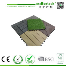 WPC Technics and Engineered Flooring Type WPC DIY Tile Straight Grain Deck