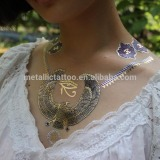 2015 New metallic temporary Flash Tattoo for wholesales