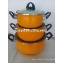 Non-stick Carbon steel enamel casserole sets insulated casserole set enamel dinnerware set