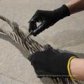 Nmsafety 13 calibre de malha de nylon preto liso nitrilo revestido luvas de trabalho resistente a óleo