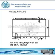 Kühler für CHRYSLER AVENGER 95-00 OEM: MB906412 / MB924993 / MR127910 / MR127911