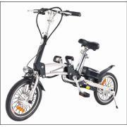 Bicicleta elétrica com travão V