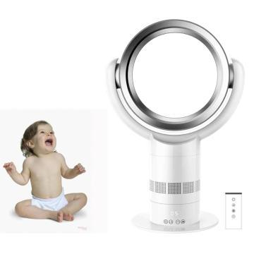 10 Zoll Luftkühlungs-blattloser Ventilator-Tischventilator mit Fernsteuerungs-ABS-Material Runde Form