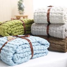 100% Cotton Oversize Knitted Blanket for Winter Wholesale