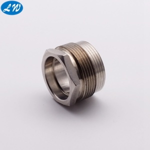CNC mengubah stainless steel hex head nut bushing