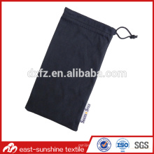 Pure Color Customized Logo Print Eyewear And Sunglasses Microfiber Pouch