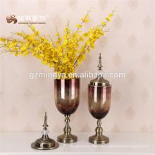2016 дешевые оптовая стеклянная ваза для домашнего украшения роскошный цветок держатель стекла