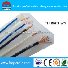 Thhn Thwn AWG Size Copper Wire Nylon Jacket Electric Cable