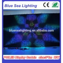Décoration de fête Rideau à LED flexible pour rideau d'écran à LED