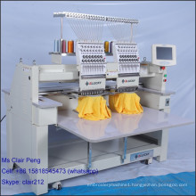 New quality t-shirt embroidery machine price for cap t-shirt flat embroidery