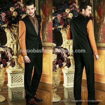 2014 Seasonal Two-Piece Latest Design Business Men Suit Tuxedo Mixed-Color Alibaba Wedding Suits For Men NB0590