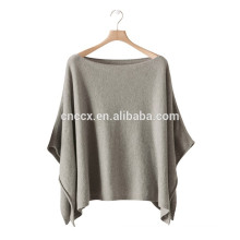 15PKCSP01 lady's cotton cashmere winter poncho sweater