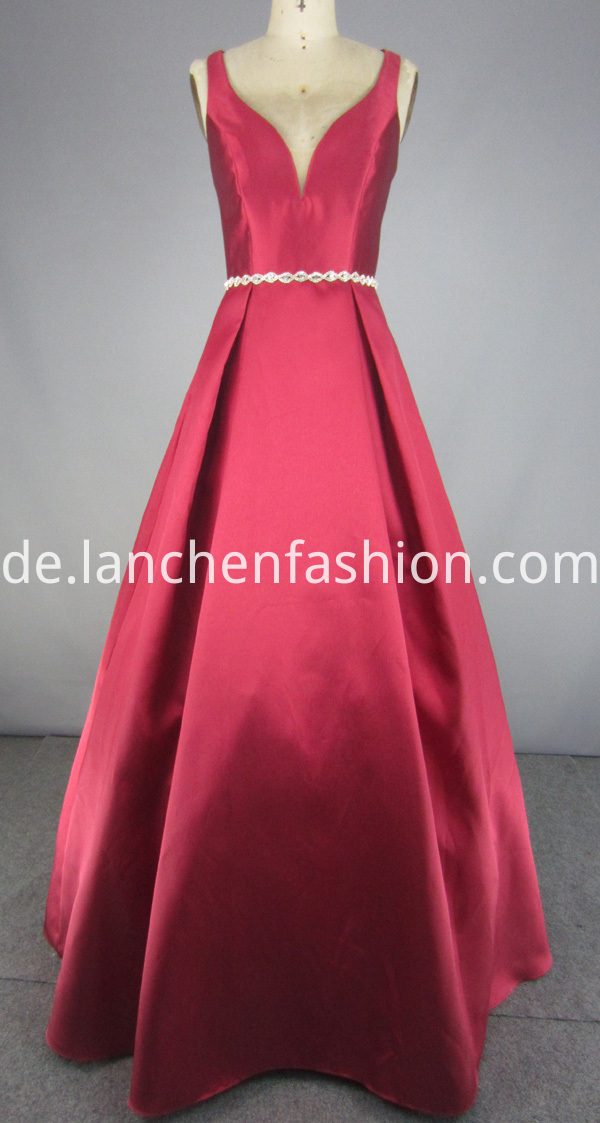 Dress with Beaded Waistband