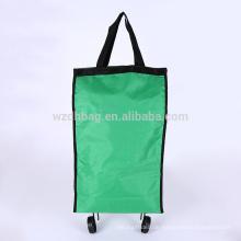 Wiederverwendbare faltbare fahrbare Polyester-Einkaufswagen-Laufkatzen-Tasche für Förderung und Reise