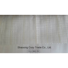 New Popular Project Stripe Cross Organza Voile Sheer Curtain Fabric 008270