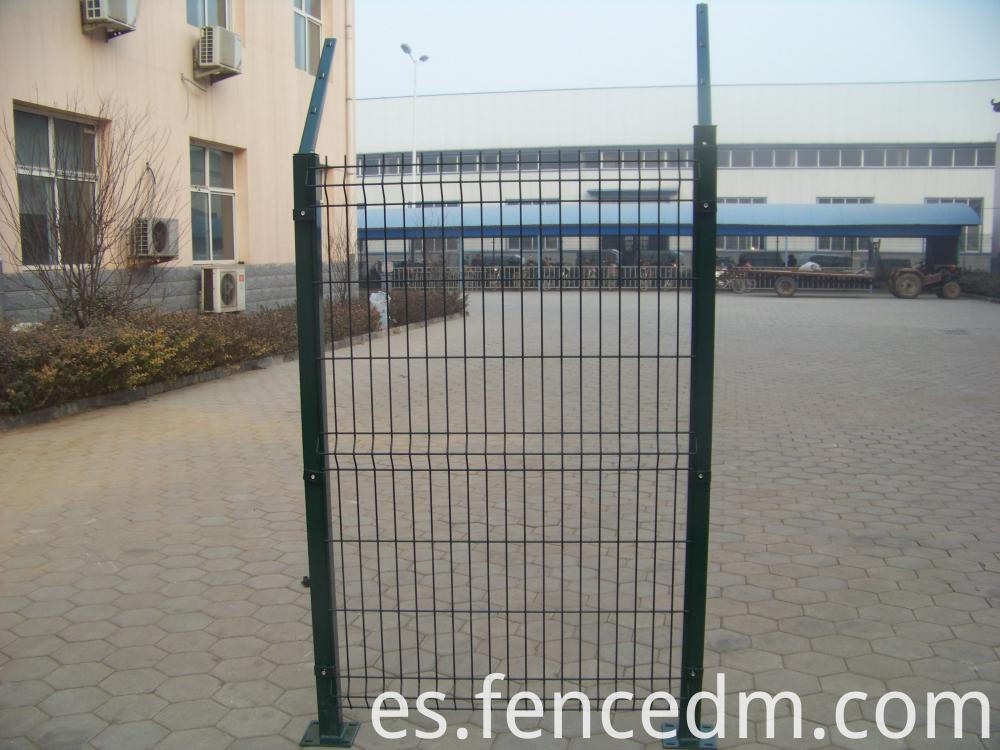 welde wire mesh fence with arm