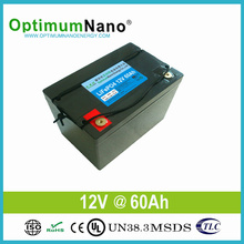 Paquet rechargeable de batterie de 12V 60ah LiFePO4 pour le chariot à golf