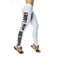 Stocked Whosale OEM Frauen Sport tragen Fitness Mode Brief gedruckt Schädel Yoga Leggings
