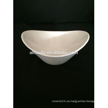 Popular cerámica de hotel cuenco vajilla