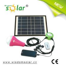 Wiederaufladbare LED Solar Laterne mit mobile Ladegerät und 6W Solarmodul