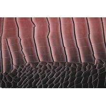 Crocodile Grain Embossed Pu Leather