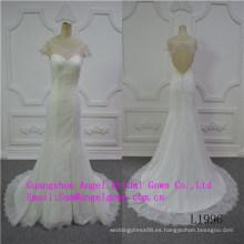 Vestido de novia exclusivo de escote redondo