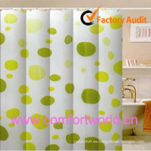 100% poliéster impermeable cortina de ducha impresa