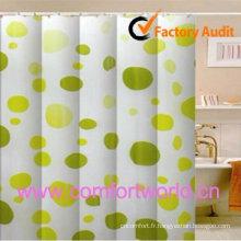 100 % polyester imperméable rideau de douche imprimé