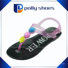2016 Новый Женский стразы открытым носком плоские случайные сандалии