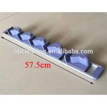 Suporte de vassoura de alumínio com 5 posições