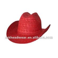 Sombreros de vaquero baratos de la paja de papel de la manera de 2013