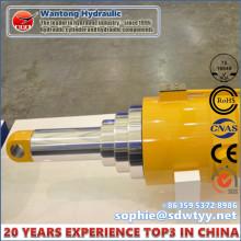 Cilindro hidráulico multi-estágio para alta pressão de ponte