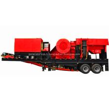 Machine mobile de broyeur de mâchoire pour la chaîne de production en pierre