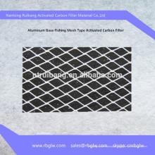 filtro de ar de carbono ativo de base de alumínio