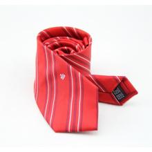 Custom Pattern Fashion Cheap Striped Polyester Men Tie