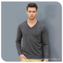 Suéter de la cachemira del V-Cuello de los hombres al por mayor del desgaste de punto de la alta calidad