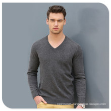 High Quality Wholesale Knit Wear Men′s V-Neck Cashmere Sweater