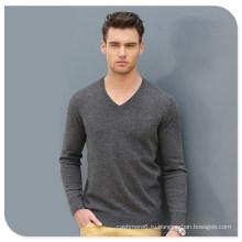 Высокое качество Оптовая продажа трикотаж Мужской V-образным вырезом Кашемировый свитер