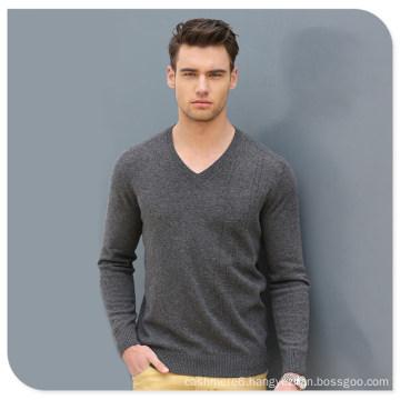 High Quality Wholesale Knit Wear Men′s V-Neck Cashmere Sweater