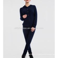 2 частей комплект женщины одежда свитер с капюшоном и длинные брюки спортивный костюм