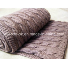 New Design Comfortable Cable Hand Knitted Blankets