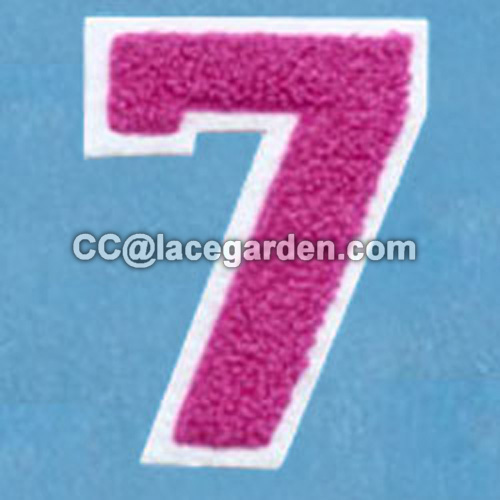"Number ""7"" Design Chenille\Chain Embroidery Patch"