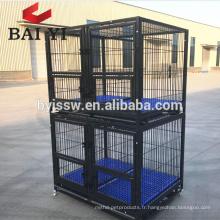 Cage Kenel résistante de tube carré de vente chaude de 2018 avec des rangées adaptées aux besoins du client